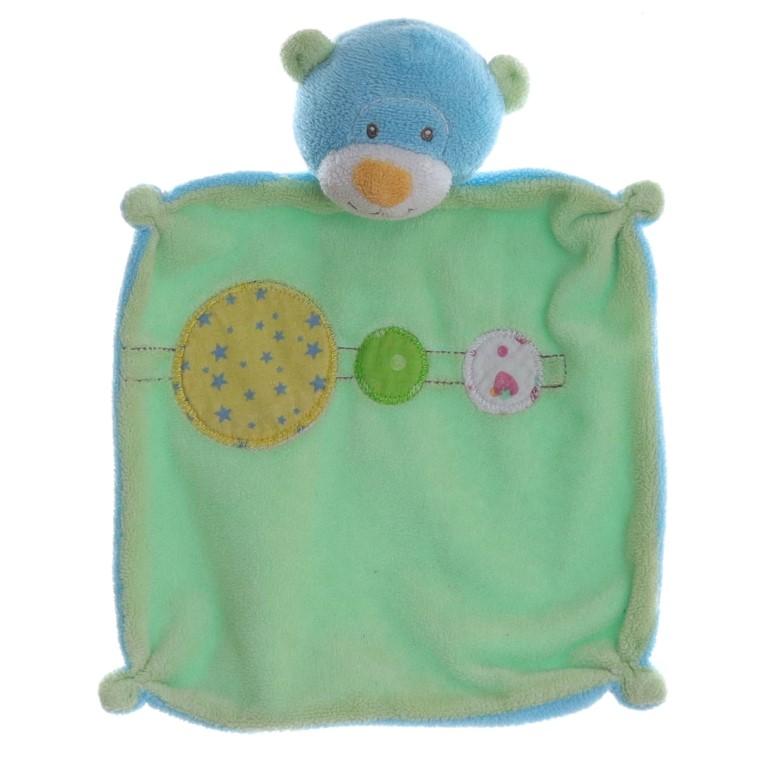 Kik Okay Ente Küken gelb blau grün Schmusetuch Kuscheltuch Schnuffeltuch