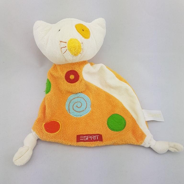 Dormia Aldi Katze gelb orange Schmusetuch Schnuffeltuch Kuscheltuch 30cm